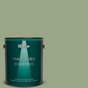 Behr Marquee 1 Gal Mq6 51 Fern Leaf One Coat Hide Semi Gloss Enamel Interior Paint Primer 345401 The Home Depot Behr Marquee Behr Marquee Paint Interior Paint