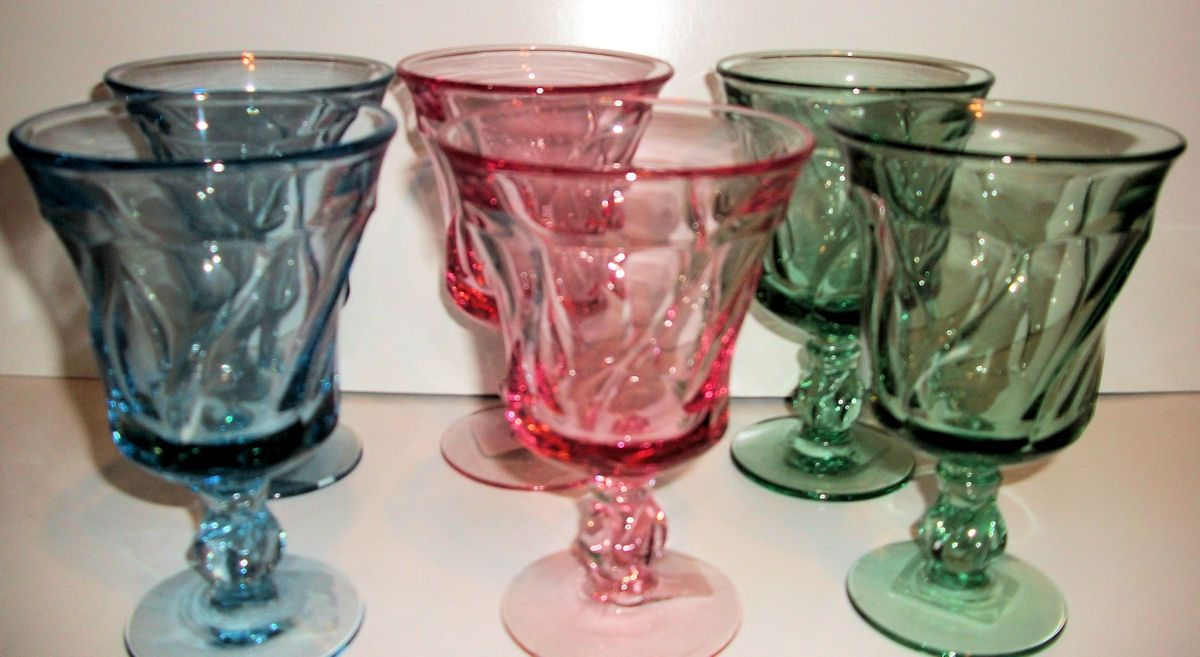 Pin By Esther Fuller On Unique Shopping Vintage Pressed Glass Glass Glass Stemware