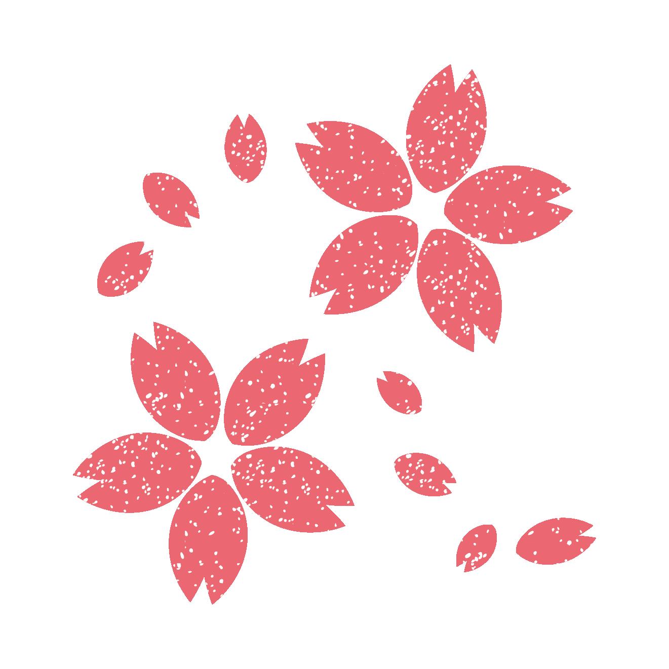 商用可 桜のスタンプイラスト素材になります 花びらがひらりひらり