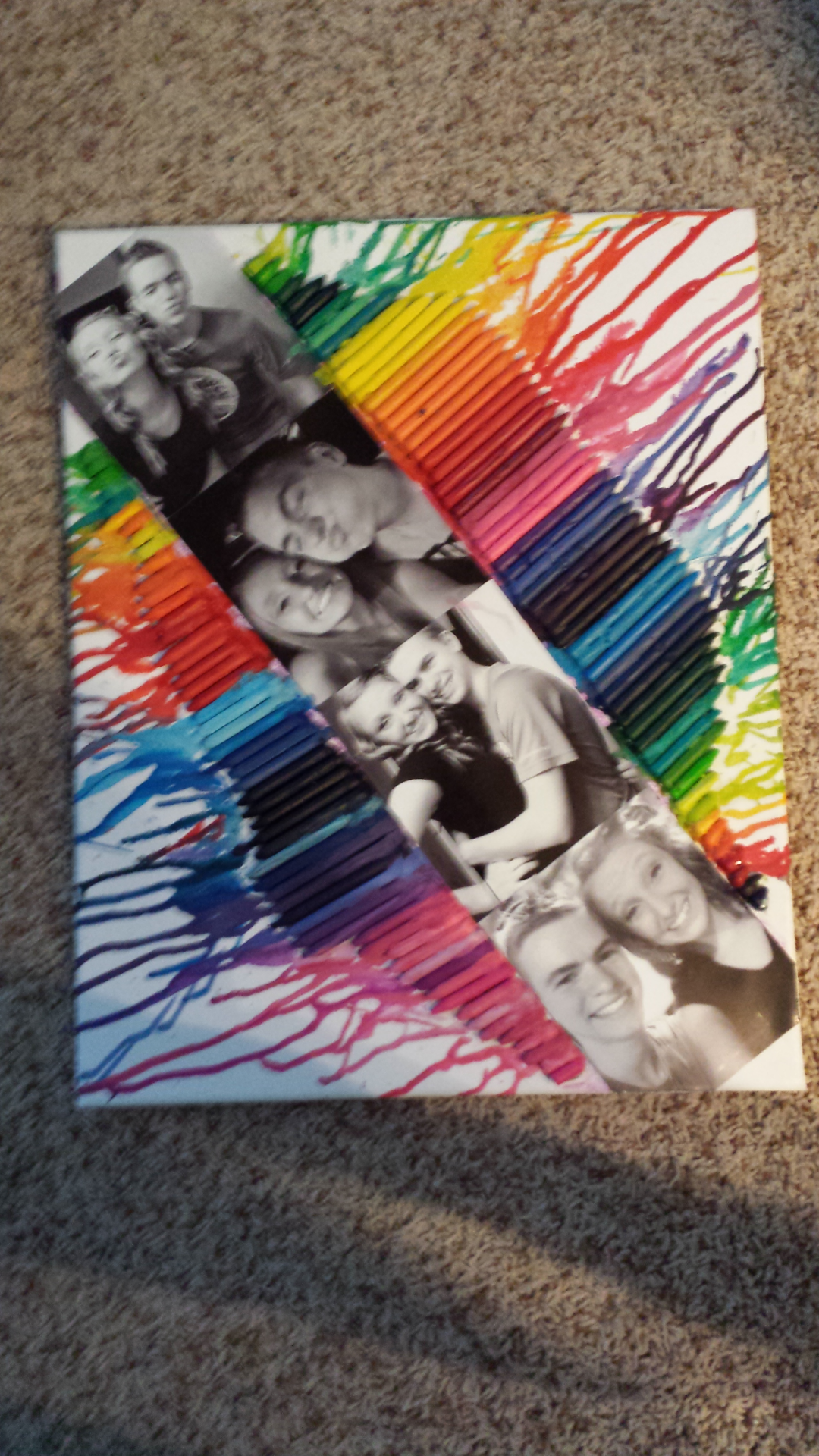 Boyfriend gift crayon canvas @Trisha Grendys want to try it again ...