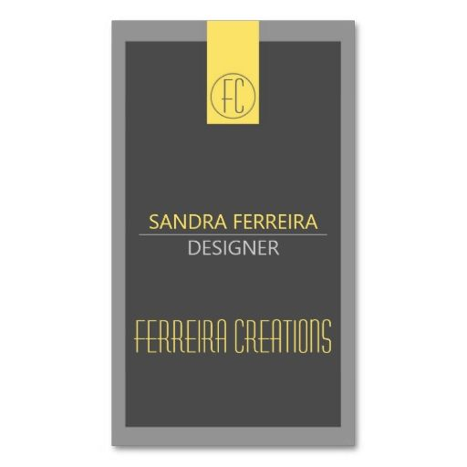 Modern Business Card Yellow And Grey Two Sided Make Your Own - Make your own business card template