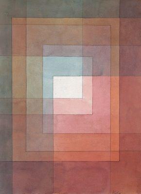Blanc Polyphoniquement Serti Par Paul Klee 1930 Peinture