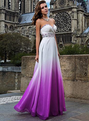 Bella Moda Studio Inc. - Purple and White Floor-length Chiffon Prom/Evening/Formal Dress Gown Many Colors, $480.00 (http://www.bellamodastudio.com/dresses/purple-and-white-floor-length-chiffon-prom-evening-formal-dress-gown-many-colors/)