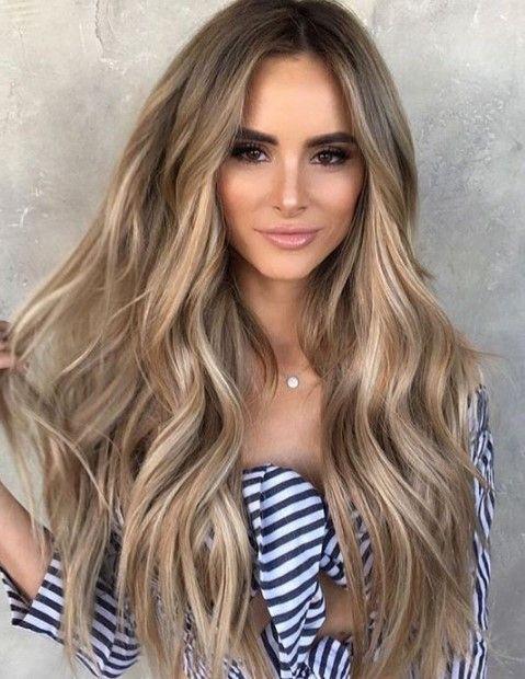 Lange Haarmodelle Esmerler Icin Sari Golgeli Sac Renkleri 2019