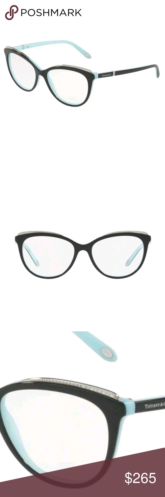 29eb20c18715 Tiffany   CO eyeglasses New and authentic Tiffany   CO eyeglasses Black and  teal frame 54-16-140 Includes case