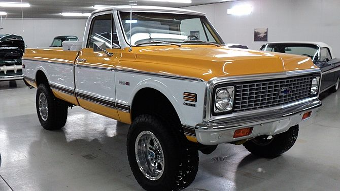 1972 Chevrolet C10 Cheyenne Pickup 350 Ci 4 Wheel Drive Presented As Lot F98 At Houston Tx 2017 Image1