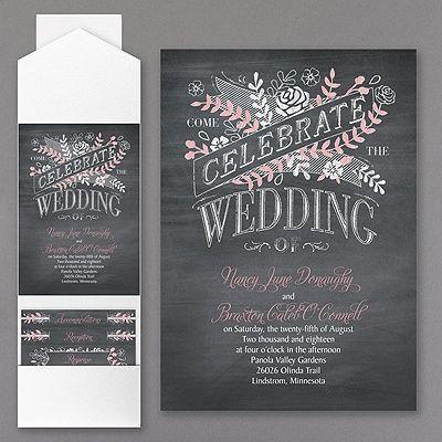 Chalkboard Celebration Invitation Chalkboard Wedding Invitations Wedding Invitation Trends Wedding Invitations Rustic