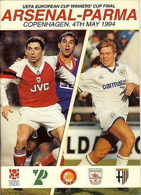 Cup Winners Cup Final 1994 Parma V Arsenal View More On The Link Http Www Zeppy Io Product Gb 2 311730691537 Football Program Cup Final European Cup
