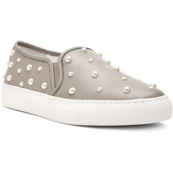 Katy Perry Women's Matillda Leather Slip-On Sneakers ($55) ❤ liked on  Polyvore