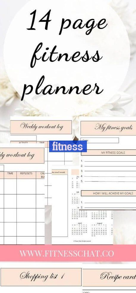 Health Fitness Planner Printable Gym Workout Plan Or Home Workout ~ #fitness gesundheit fitness plan...
