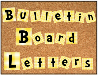 Free bulletin board alphabet and numbers set cute cute for Letters for bulletin boards templates