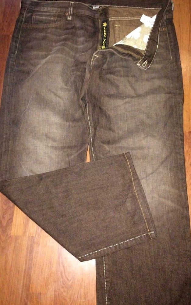 Lucky Brand Men S Dark Brown Vintage Straight Jeans 100 Cotton