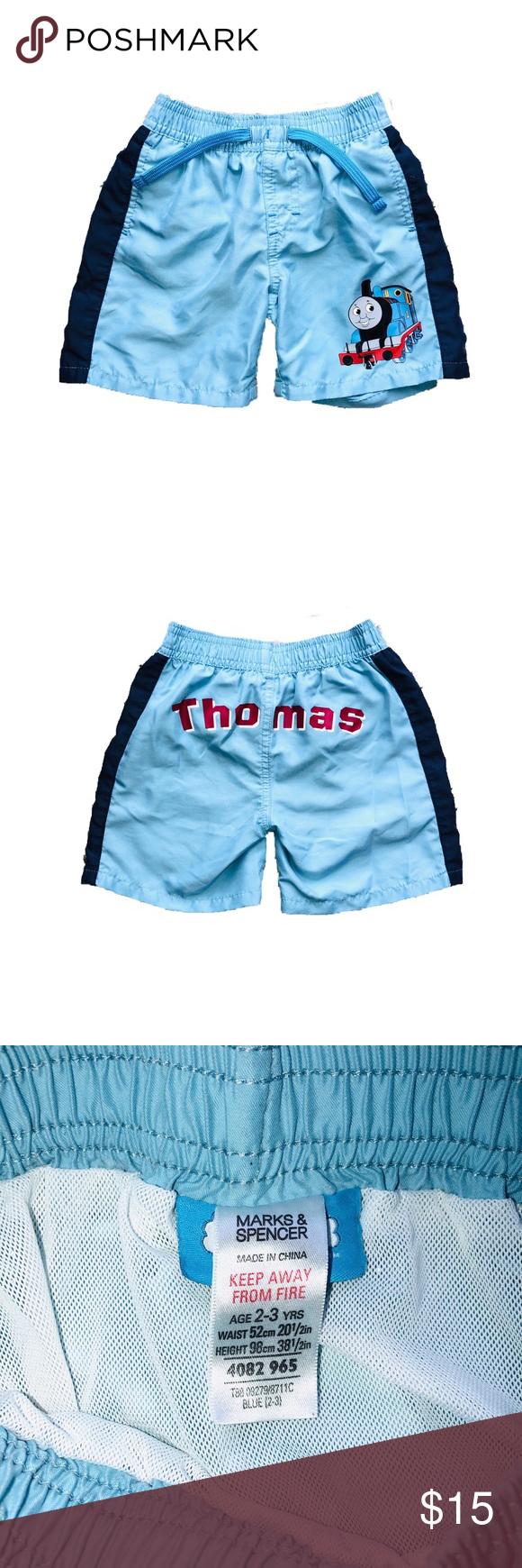 b56b75b779 Boys swimming trunks 2t-3t Thomas the train swimming trunks Swim Swim Trunks