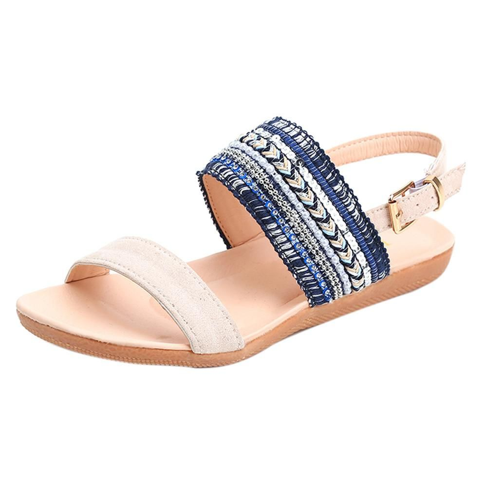076e6f0b0 Women Bohemia Slippers Flip Flops Flat Sandals Toe Beach Gladiator Ankle  Shoes   Features  1