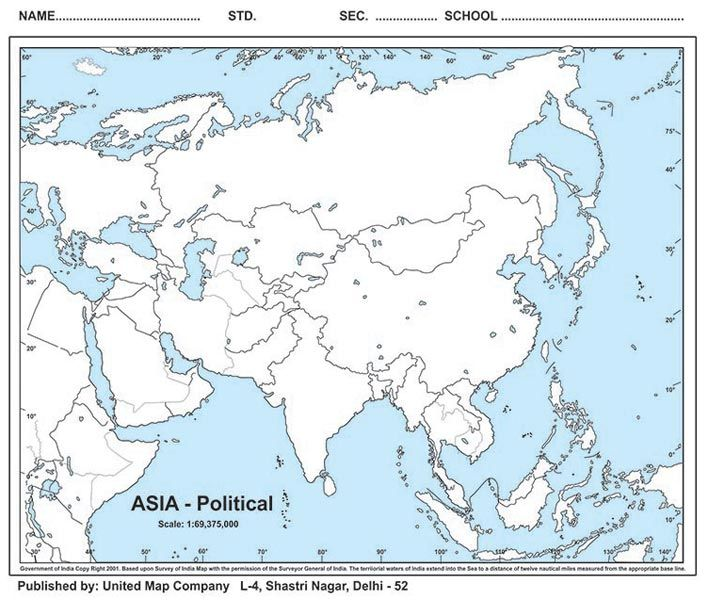 photograph about Printable Blank Map of Asia referred to as Asia Political Map Blank fysiotherapieamstelstreek