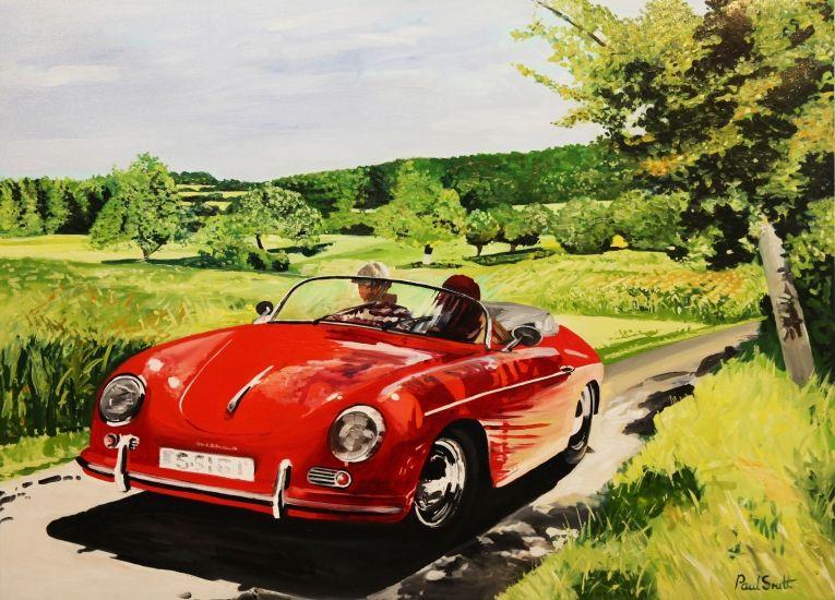 Classic Car Paintings Paul Smith Artist Car Painting Porsche Cars Classic Cars