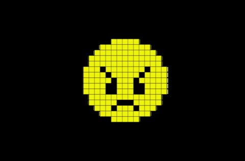 Angry Face Emoji Pixel Art Pixel Art Pixel Art Templates Angry Face Emoji
