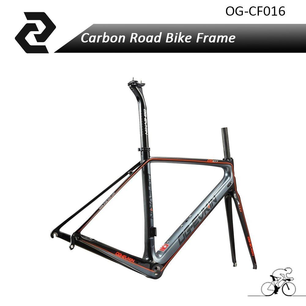 Chinese OG-EVKIN Cool Orange Carbon Fiber Road Bike Frame Di2 3K ...