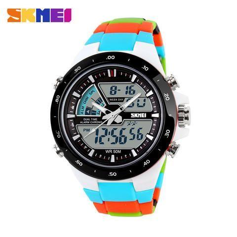 50cfbc536a8 Skmei Multicolor Digital Analog Watch. Skull