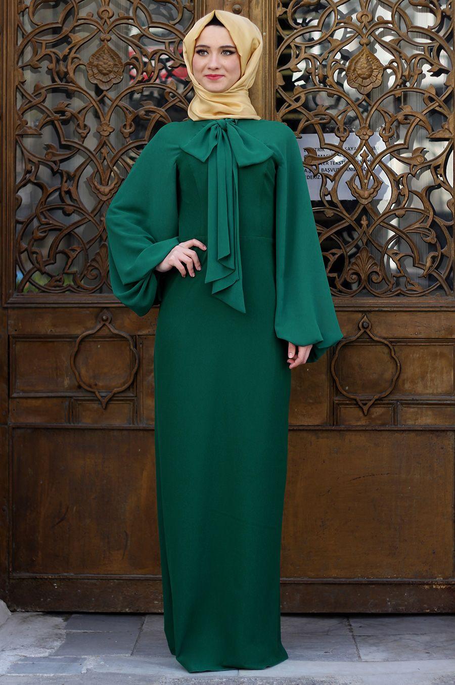 Zarif Tesettur Fiyonklu Elbise Modelleri Elbise Modelleri Moda Stilleri Elbise