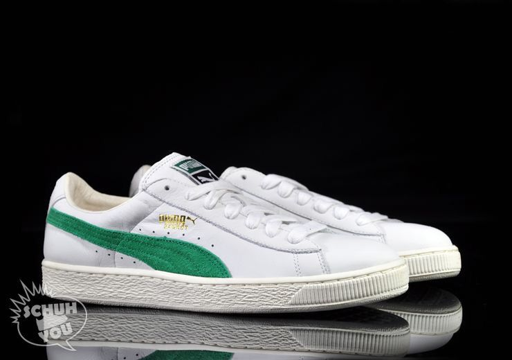 online store 6d723 d9f7b Puma Basket: White/Green | Fits in 2019 | Puma basket ...