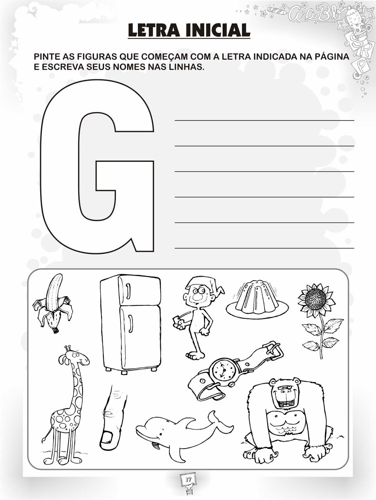 Resultado De Imagem Para Quero O Alfabeto Divertido Letra G