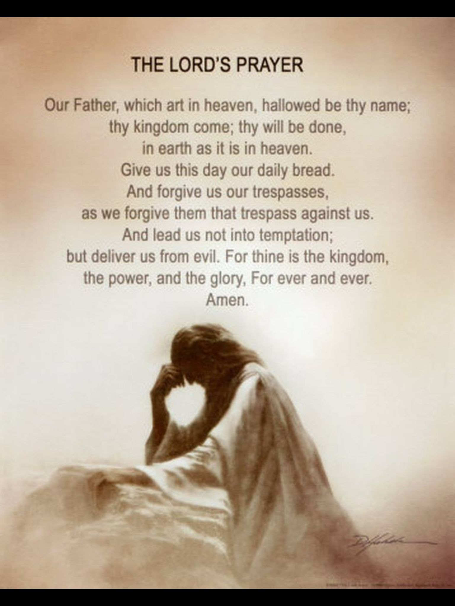 Lord, here our prayer...