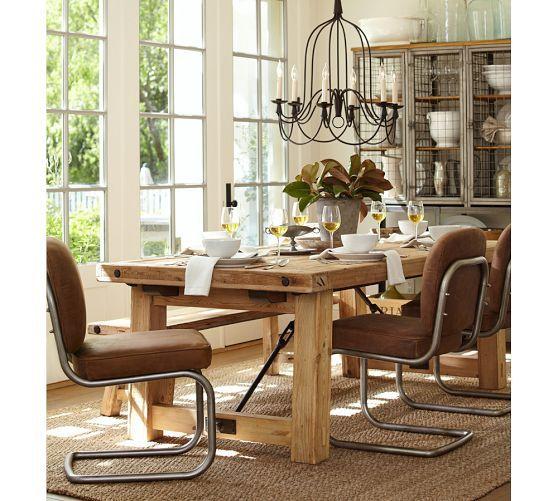 Dining room armonk 6 arm indoor outdoor chandelier pottery barn 399