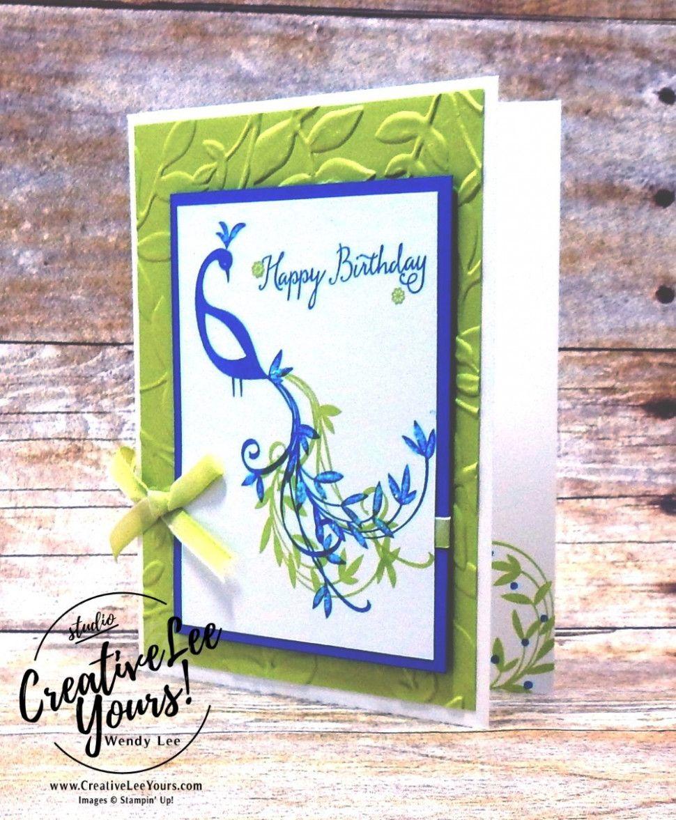 stampin up beautiful peacock card ideas  beautiful
