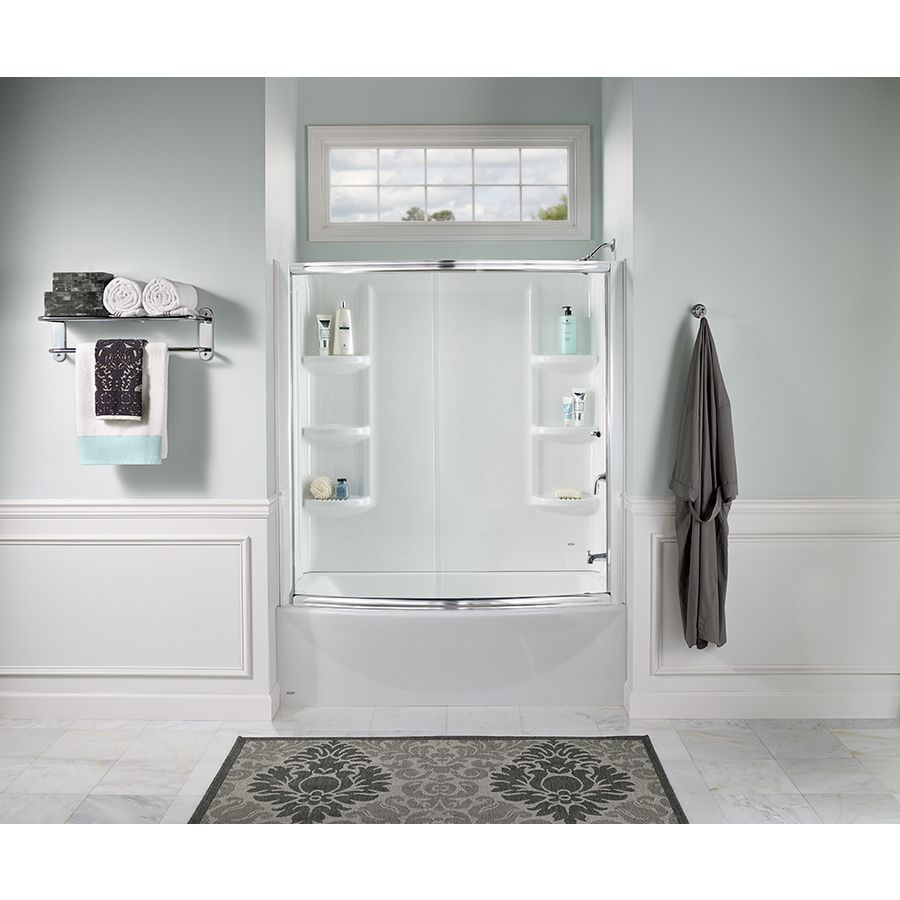 American Standard Saver 33 75 In W X 60 In L Arctic Acrylic Rectangular Left Hand Drain Alcove Bathtub Lowes Com Bathtub Walls Bathtub Wall Surround American Standard