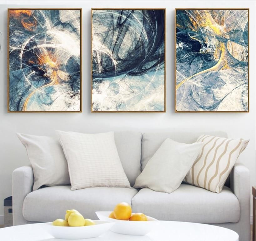 Abstract Art 3 Pieces Canvas Paintings Modular Pictures Wall Art Canvas For Living Room 3 Piece Canvas Art Canvas Wall Art Living Room Canvas
