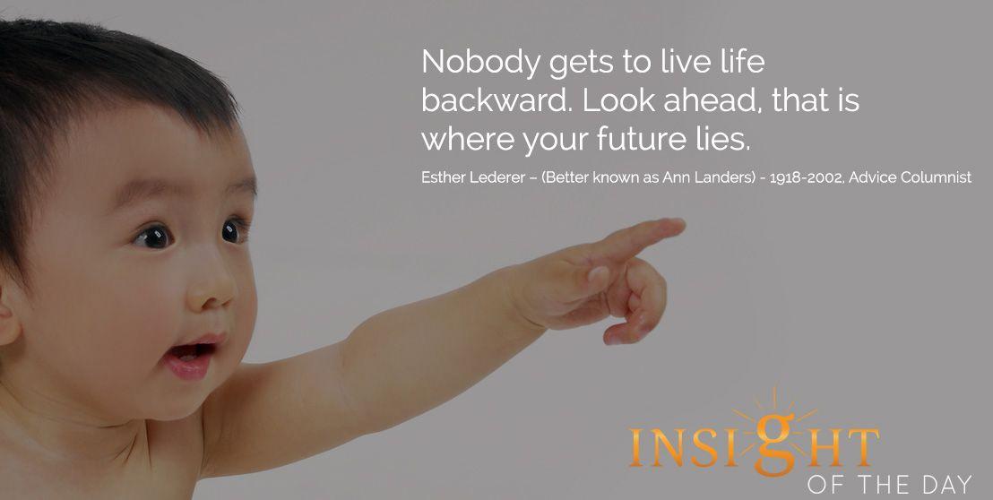 Motivation from Ann Landers