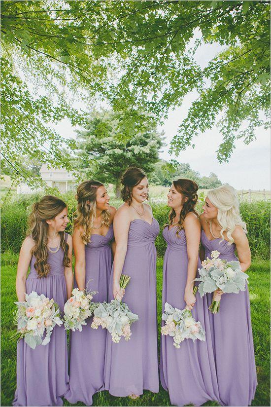 Rustic Purple Farm Wedding Lavender Bridesmaid Dresses Wedding Bridesmaids Dresses Blue Simple Bridesmaid Dresses