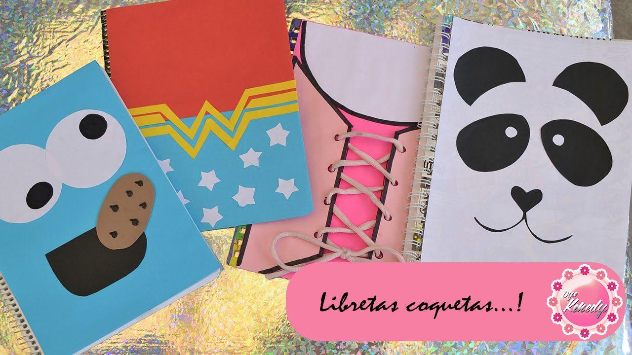 Portadas Para Decorar Cuadernos Libretas Y Agendas: DECORA TUS CUADERNOS - 4 IDEAS :::...♡ ♡ ♡