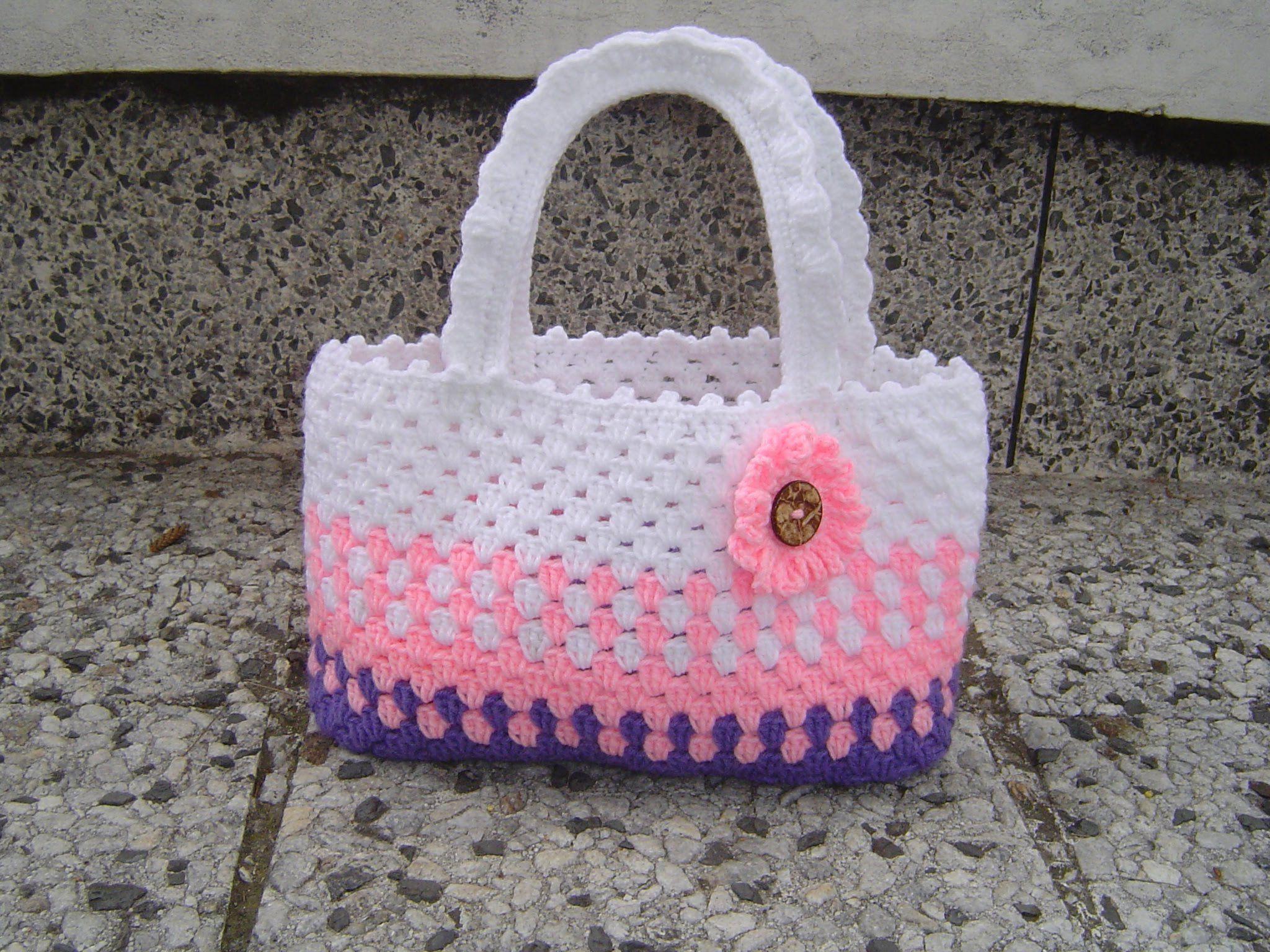 o tejer cartera o bolso para ni±a en crochet paso a paso Knitting Videos Crochet