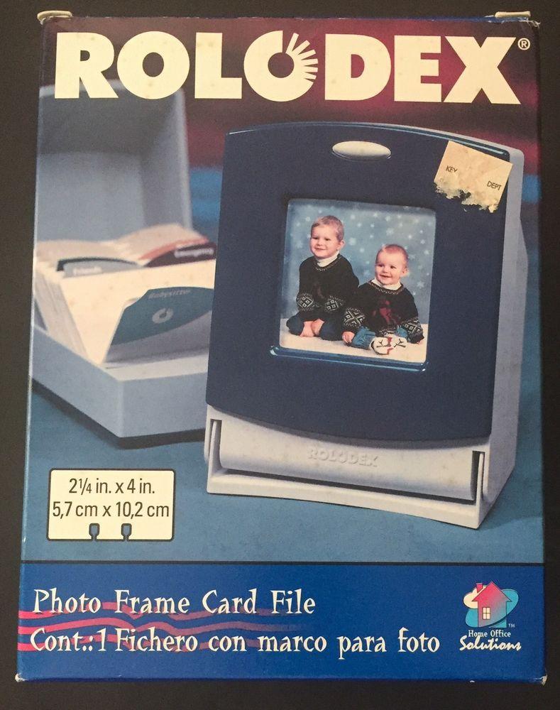 ebay home office. Vtg Rolodex Photo Frame Card File New In Box Home Office Solutions | EBay Ebay R