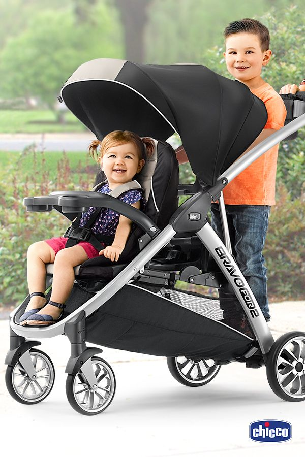 the chicco lets baby and big kid share the ride as they grow together from car seat and toddler seat to sitting and standing youre covered