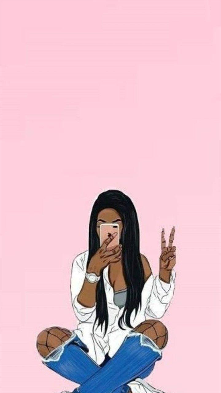 Pin By Tiya Saha On Sketches Of Love Black Girl Magic Art Black Girl Cartoon Drawings Of Black Girls
