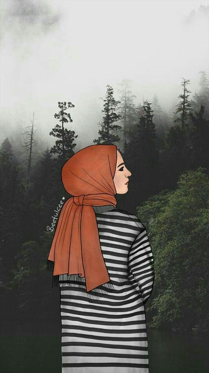 İslamic anime Afgan kızı, Çizimler, Dijital portre