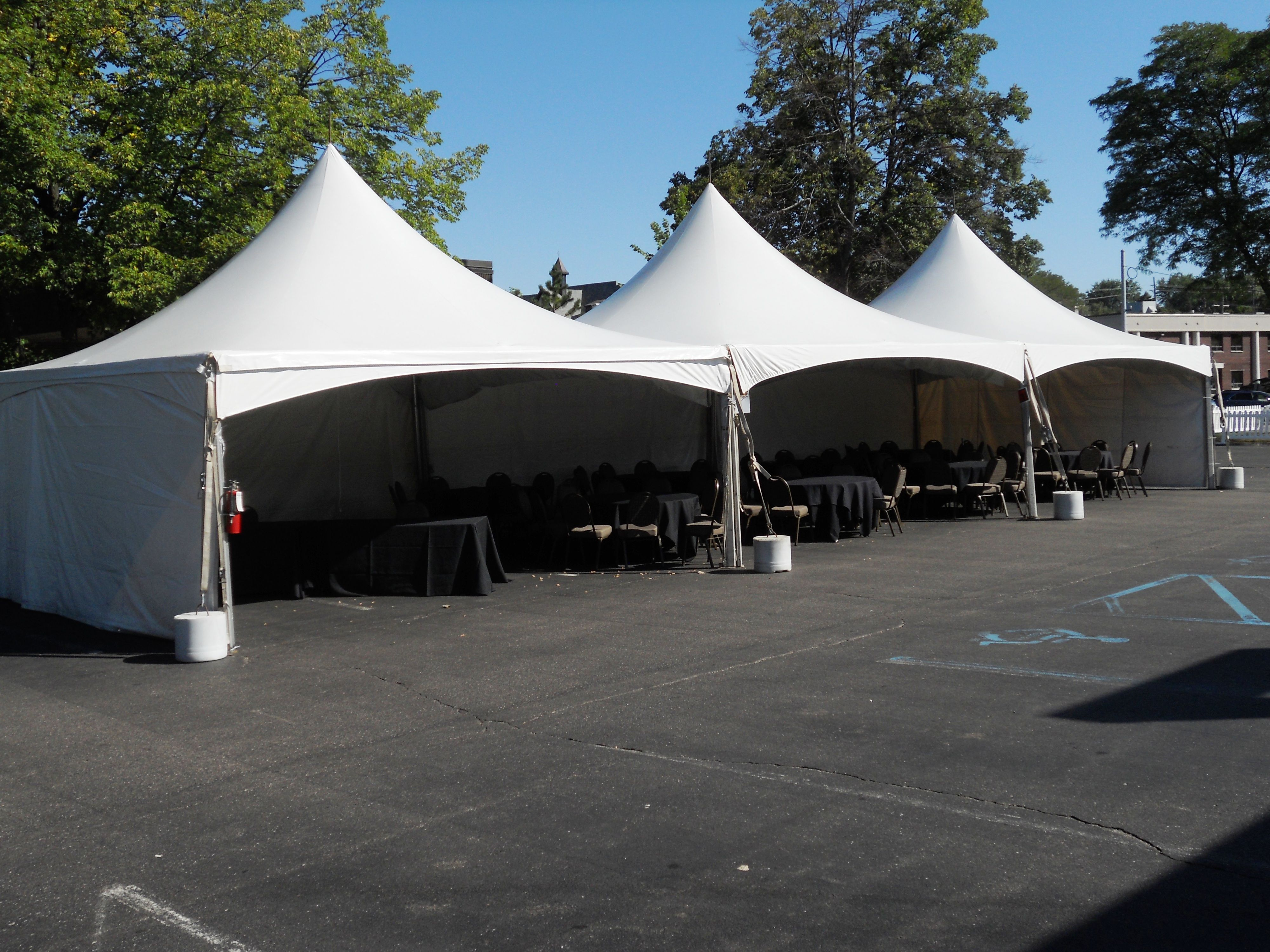 3 20 x 20 festival frame tents for Woodward Cruise event. Perfect configuration for street festivals fairs and corporate events. & 3 20 x 20 festival frame tents for Woodward Cruise event. Perfect ...