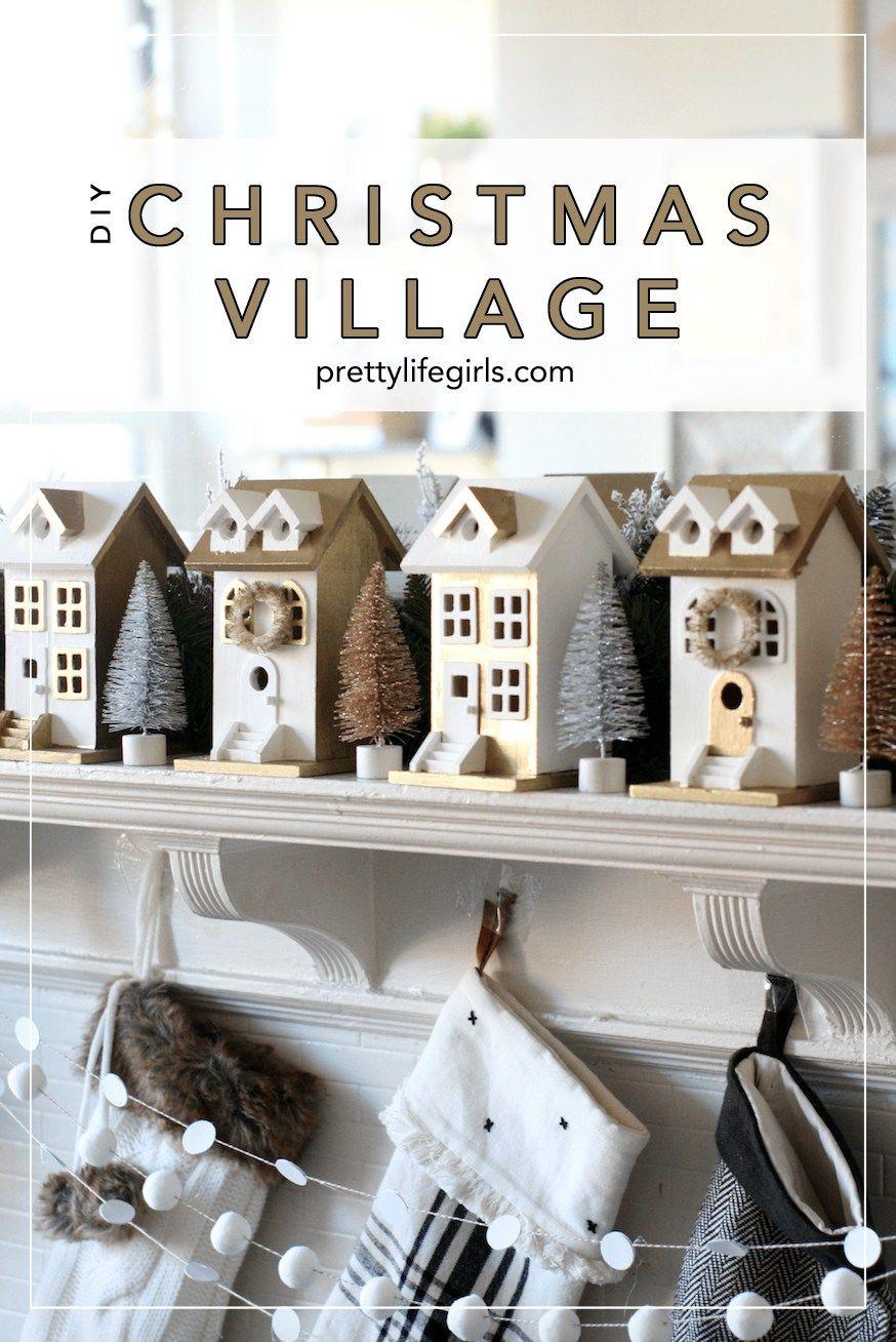 Watch our DIY Gilded Christmas Village tutorial -   19 diy christmas village ideas