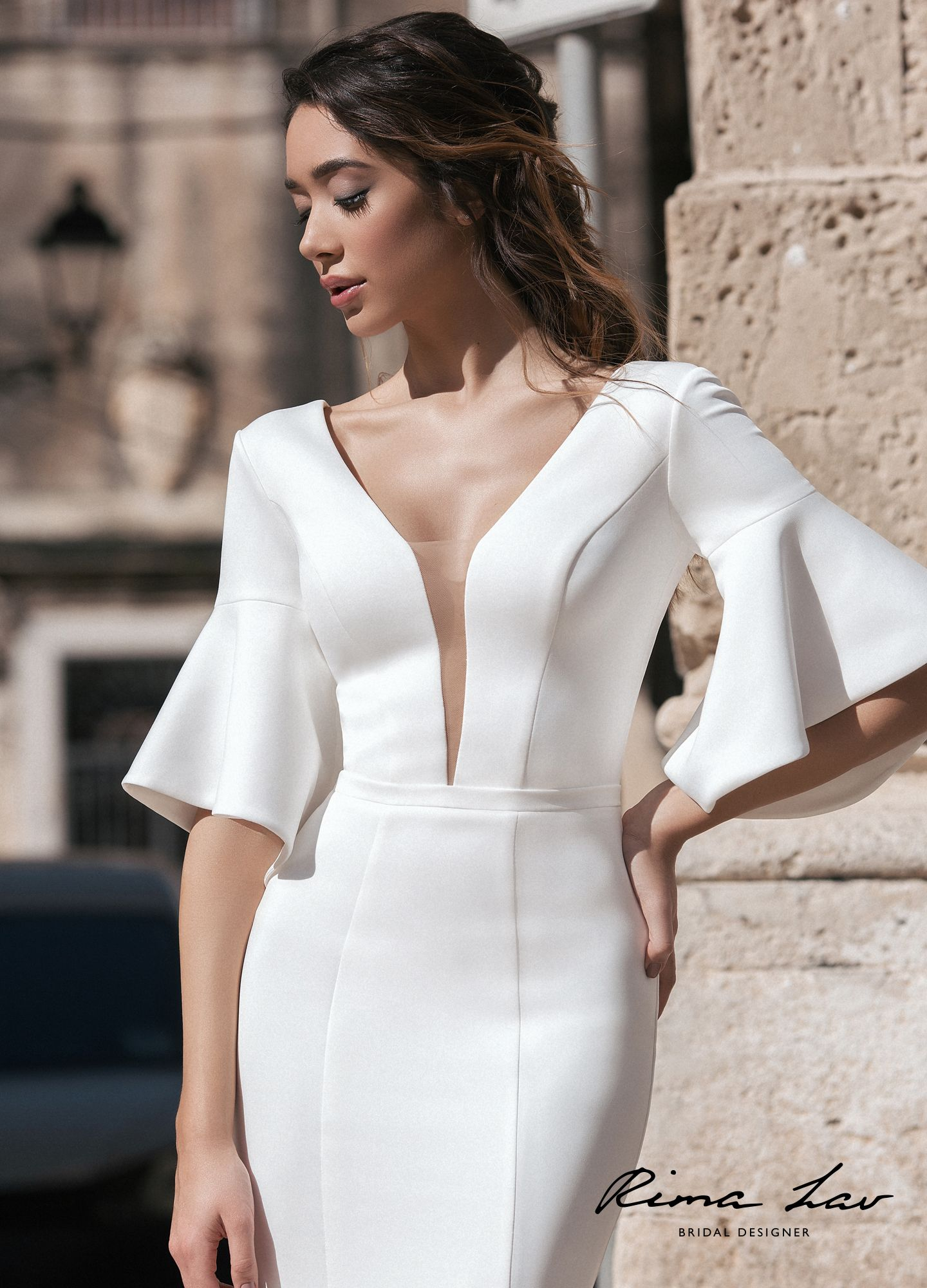 Who Designed Megan S Wedding Dress.Rima Lav Helly 3 Wedding Gown Wedding Dress With Sleeves Long