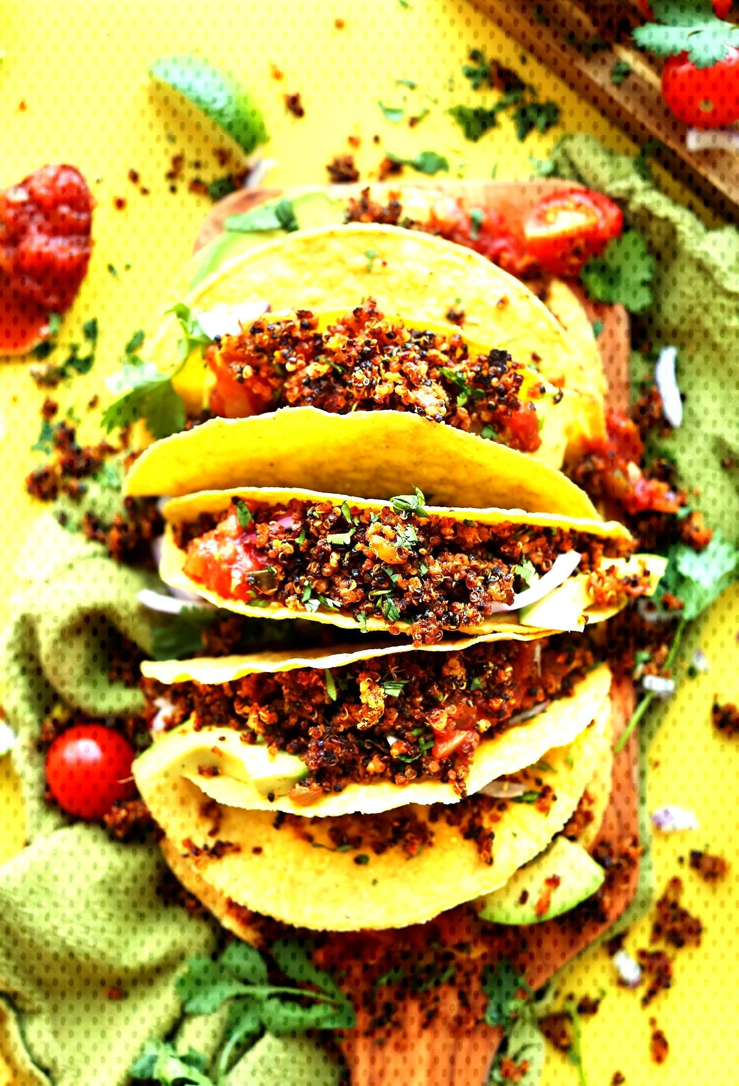 AMAZING EASY Quinoa Taco Meat thats crispy, flavorful, and protein-packed! 9 ingredients, SO EASY,