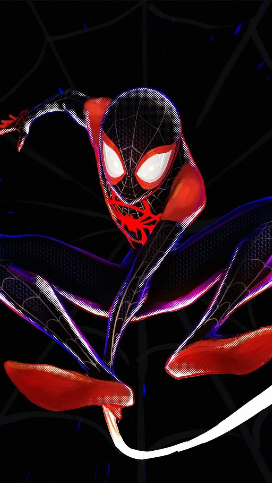 Spiderman 4k Miles Morales Iphone Wallpaper In 2020 Spiderman Spiderman Artwork Superhero Wallpaper