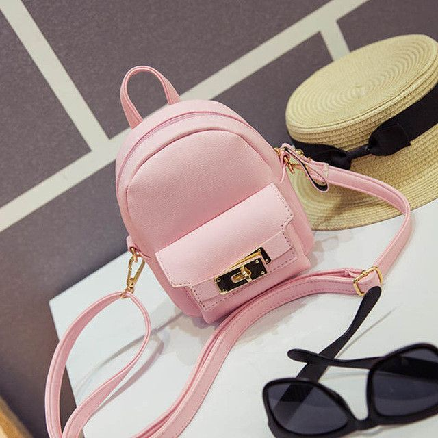 254525ef47 2017 Cute Korean Style Small New Women Shoulder Bag High Quality PU Leather  Bag Mini Backpack Crossbody Bags Girls Rucksacks