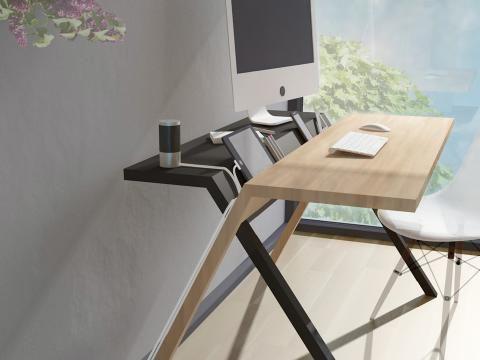 Schreibtisch \u201eBackup\u201c von Formabilio Wand  Beet Möbel