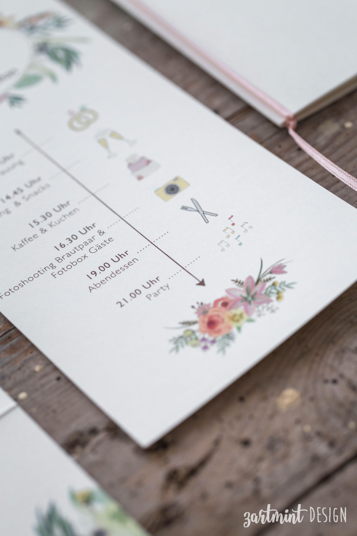 Hochzeitspapeterie  Hochzeitseinladung Sommer Wilde