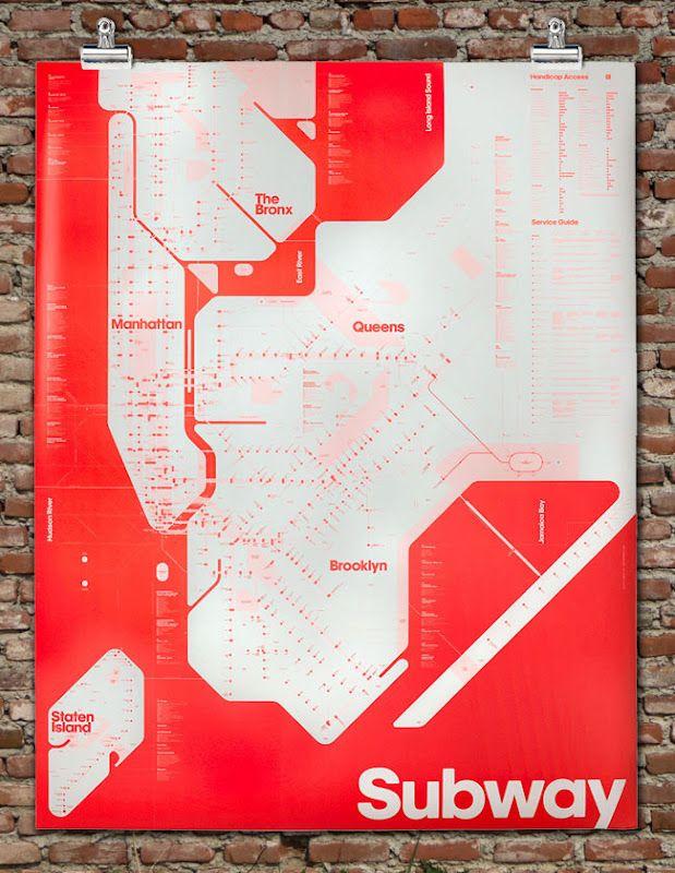 New York Subway Map Red.Brooklyn Based Designers David Heasty And Stefanie Weigler Of