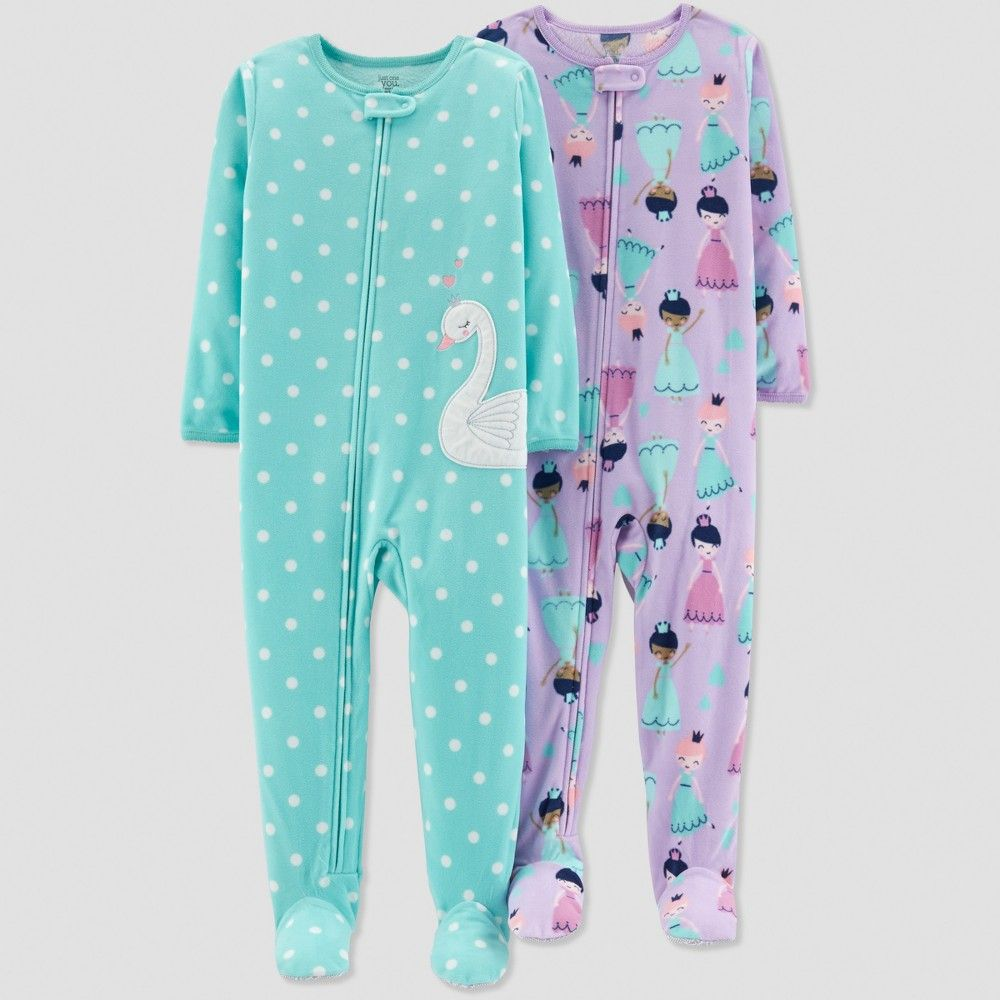 eef1f6503b Baby Girls  Swan Pajama Set - Just One You made by carter s Blue 9M ...