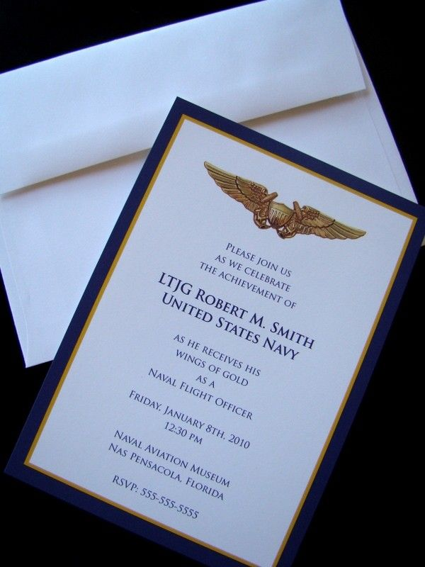 Military Retirement Ceremony Invitations - Invitation Templates ...